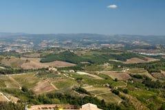 Hills around San Gimignano. Stock Images