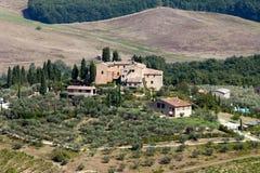 Hills around San Gimignano. Royalty Free Stock Photo