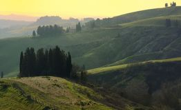 Hills At Sunset Stock Photography