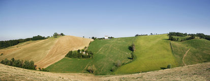 Hills. Beautiful view of rolling countryside, Italy Stock Photos