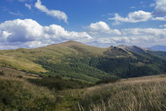 Hills of Bieszczady Mountains Stock Photo