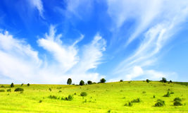 Hills and blue sky Stock Images