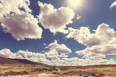 Hills in Bolivia Royalty Free Stock Photography