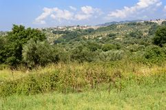 The hills of Calabria Royalty Free Stock Images