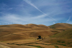 Hills of California. A desolate ranch hidden in the hills Stock Images