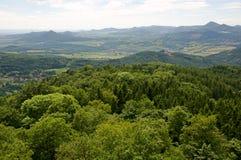 Hills in Ceske stredohori Royalty Free Stock Photo