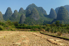 Hills in China in surroundings of the Yangshuo town Stock Image