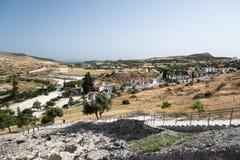 Hills of Choirokoitia. Hills near Choirokoitia (Khirokitia), Cyprus Stock Photo