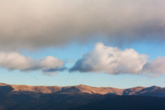 Hills and clouds Royalty Free Stock Photo