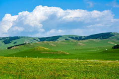 The hills and clouds Royalty Free Stock Images