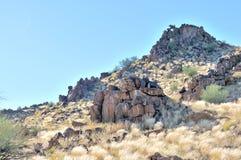Hills consisting of dolerite boulders Stock Image