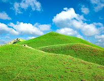 Hills covered with a grass Stock Photo