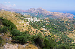 Hills on Crete island, Greece Royalty Free Stock Photo