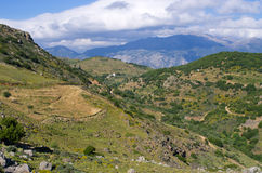 Hills on Crete island, Greece Royalty Free Stock Photos