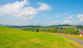 Hills of the Eifel National Park in sunlight Royalty Free Stock Image