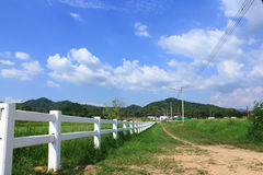 Hills and farms in thailand Royalty Free Stock Photos