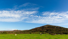 Hills and fields Cornwall countryside Zennor near St Ives Stock Images