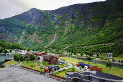 The Hills of the Flaam Fjord Stock Photo