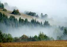 Hills and fog Royalty Free Stock Image
