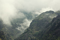 Hills in the fog. Peaks of the hills in the fog Royalty Free Stock Photography