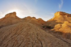 Hills of freakish forms from sandstone Royalty Free Stock Photo