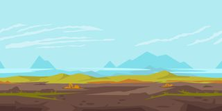 Hills Game Background Landscape Stock Image