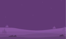 Hills game backgrounds of silhouettes. Vector art illustration Royalty Free Stock Photography