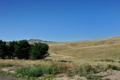 Hills and grassland. Royalty Free Stock Photography