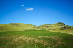 Hills in green countryside Royalty Free Stock Image
