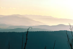 Hills in haze. Royalty Free Stock Images