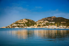 Hills with houses in Port d'Andratx Stock Photography