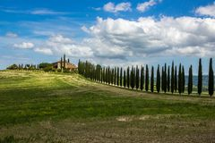 Hills In Val Di Orcia In Tuscany In Italy Royalty Free Stock Photos