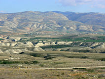 Hills, Jordan Valley. Hills forming spurs and ridges along Jordan Valley, as seen from Israel royalty free stock photo