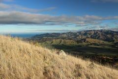 Hills of Kaikoura, New Zealand. Colorful hill above Kaikoura city on eastern coast of New Zealand Stock Photography