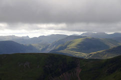 Hills in The Lake District, England. A photo of the Lake District, England royalty free stock photography