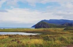 Hills. Landscapes of Kunashir island. Far East stock photo