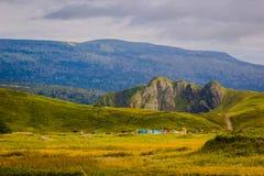 Hills. Landscapes of Kunashir island. Far East royalty free stock images