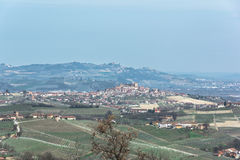 The hills of the Langhe, Italy Stock Photography
