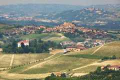 Hills of Langhe in Piedmont, northern Italy. Royalty Free Stock Photography