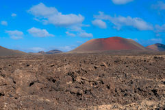 Hills on Lanzarote Island Royalty Free Stock Photo
