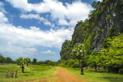 Hills of Laos.The road. Stock Photography