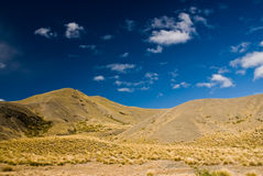 Hills on Lindis Pass. New Zealand Royalty Free Stock Photo