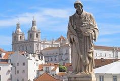 Church sao Vicente de Fora in Lisbon in Portugal royalty free stock photos