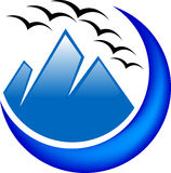 Hills logo Royalty Free Stock Images