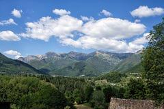 Hills of Lunigiana, north Italy. Royalty Free Stock Image