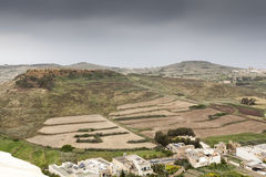 Hills of Malta. Landscape with specific hills on malta Stock Image