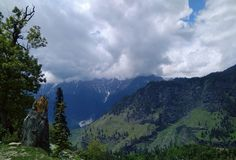 Hills of Manali India. Beautiful view of Hills and valleys Royalty Free Stock Images
