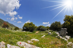 The hills of the Mediterranean Royalty Free Stock Photos