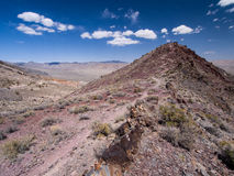 Hills and Mountains in the Desert. Death valley, mountains, plants and soil Royalty Free Stock Image