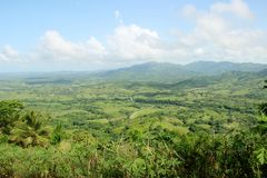 Hills and mountains of the Dominican Republic. View from hills to the Dominican Republic royalty free stock image